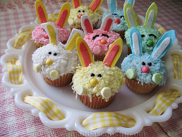 Cupcake Easter Desserts  Easter Bunny Cupcakes A sweet Easter dessert everyone