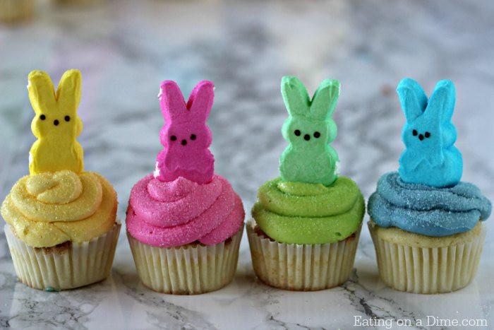 Cupcake Easter Desserts  Peeps Cupcakes Easy Easter Cupcakes Easter Dessert Recipes