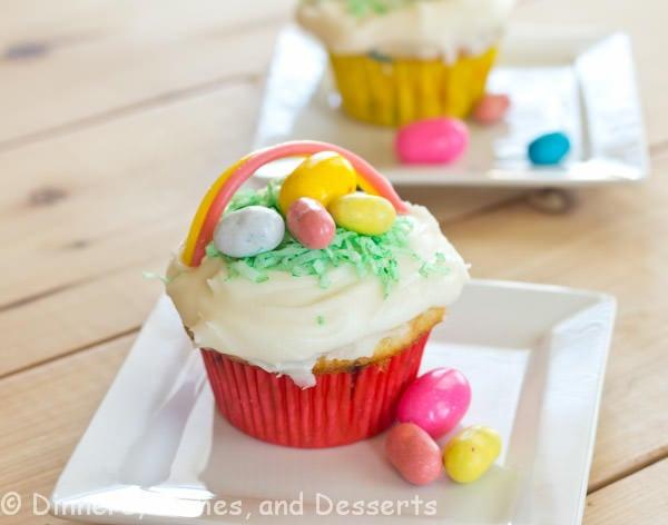 Cupcake Easter Desserts  Easter Basket Cupcakes