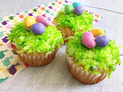 Cupcake Easter Desserts  Nest Easter Cupcakes Easy Easter Dessert Recipe