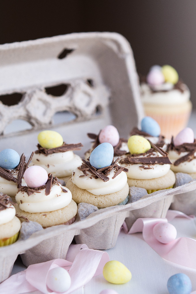 Cupcake Easter Desserts  White Chocolate Easter Egg Cupcakes