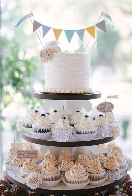 Cupcakes Wedding Cakes  Separated Tier Wedding Cakes