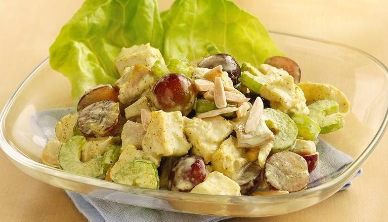 Curried Chicken Salad Healthy  5 Minute Recipe Curried Chicken Salad