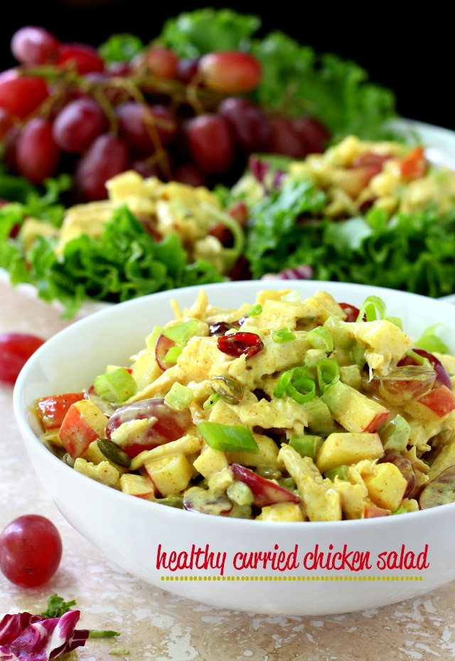 Curried Chicken Salad Healthy  Healthy Curried Chicken Salad Kim s Cravings
