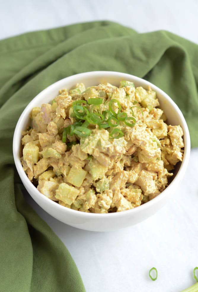 Curried Chicken Salad Healthy  Healthy Curried Chicken Salad with Apples