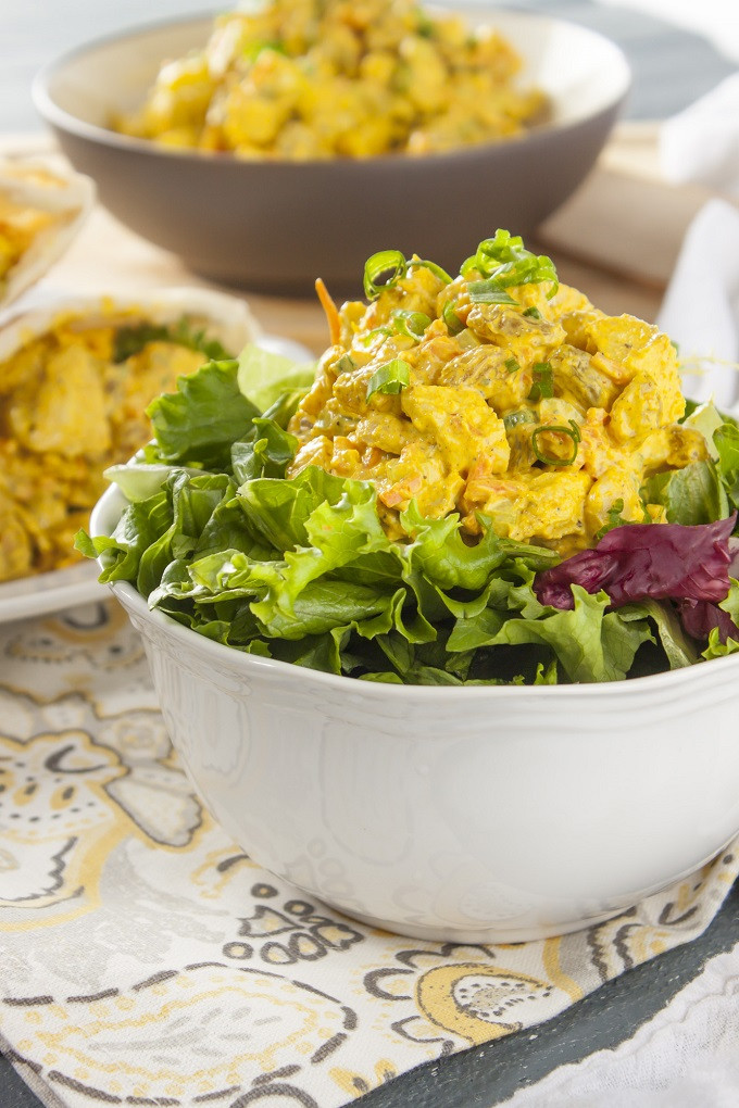 Curried Chicken Salad Healthy  Trader Joe s Copycat Curried Chicken Deli Salad