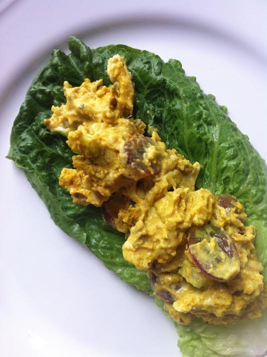 Curried Chicken Salad Healthy  4 Ingre nt Healthy Curry Chicken Salad Smile Sandwich