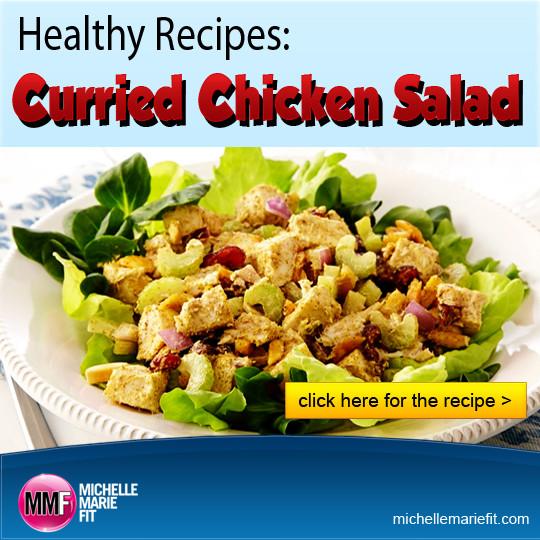 Curried Chicken Salad Healthy  Healthy Recipes Curried Chicken Salad Michelle Marie Fit