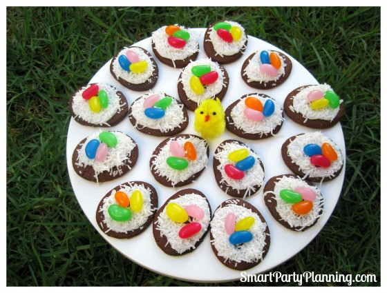 Cute Easter Desserts  Bird s Nest Cookies Are Cute Easter Desserts
