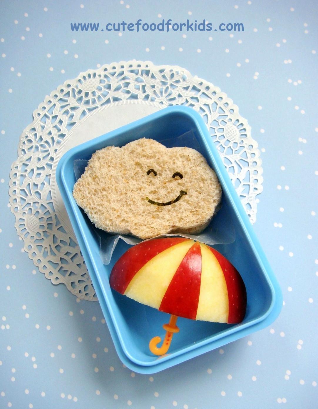 Cute Healthy Snacks  Cute Food For Kids Healthy Snack Idea Apple Umbrella