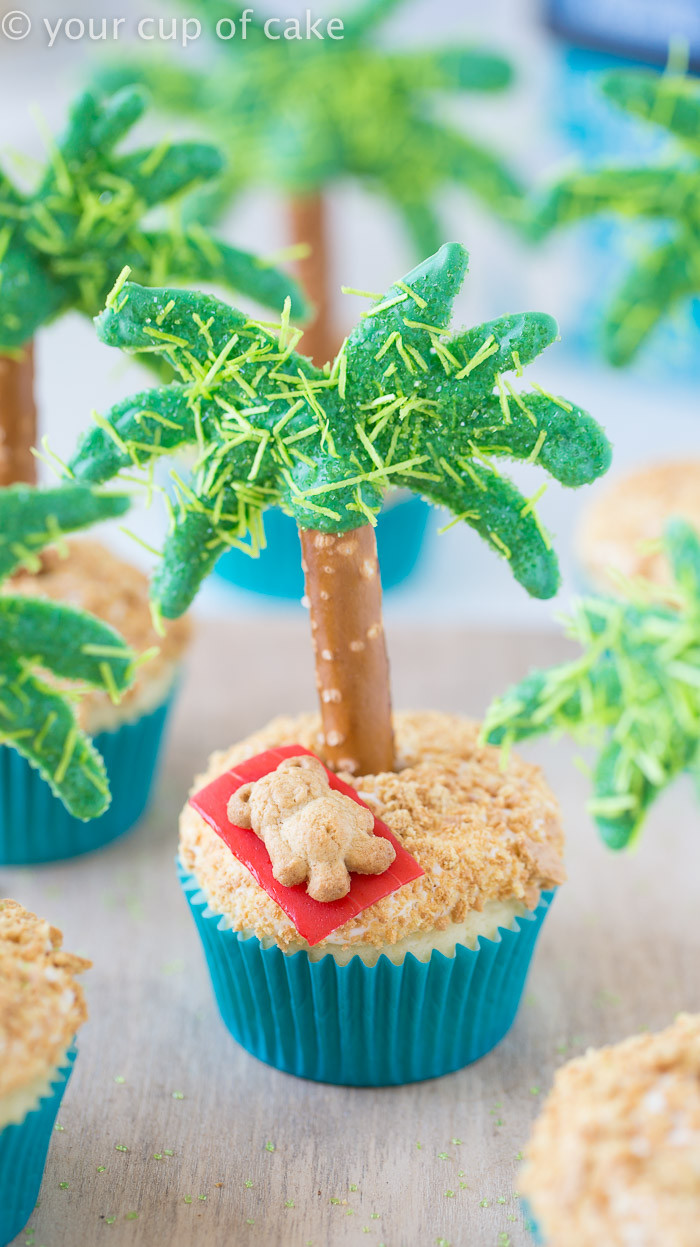 Cute Summer Desserts  Palm Tree Cupcakes Your Cup of Cake