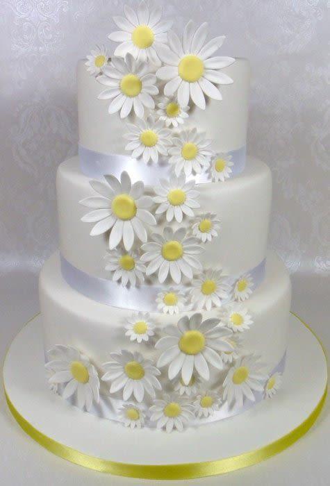 Daisy Wedding Cakes  Daisy Wedding Cake Cake by Fancy Cakes by Linda CakesDecor