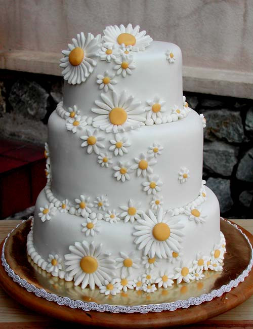 Daisy Wedding Cakes  Adorable Daisy Wedding Cakes