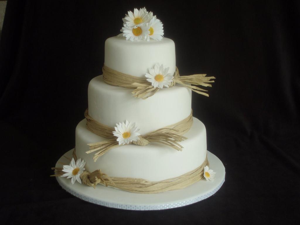 Daisy Wedding Cakes  Daisy and Raffia wedding cake