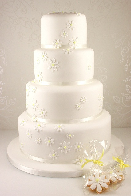 Daisy Wedding Cakes  Wedding Cakes The Fairy Cakery Cake Decoration and