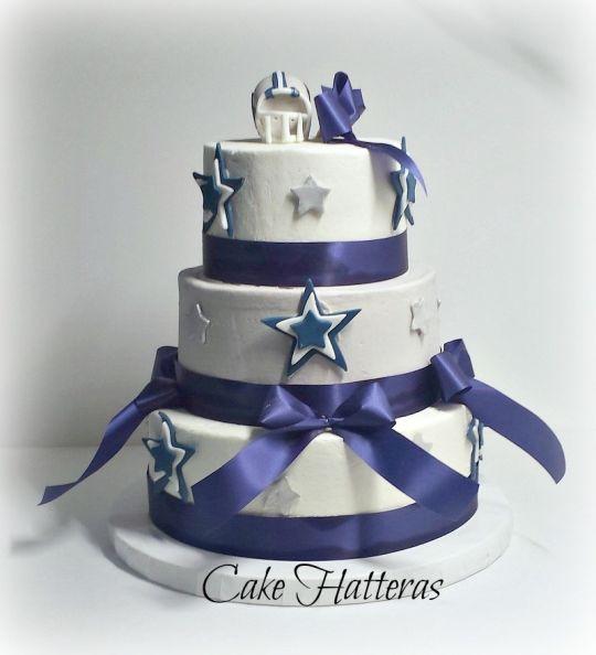 Dallas Cowboy Wedding Cakes  Dallas Cowboy Birthday Cake cake by Donna Tokazowski