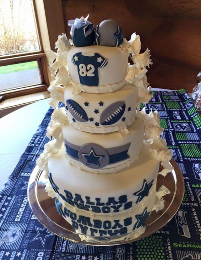Dallas Cowboy Wedding Cakes  Dallas Cowboys Wedding Dress
