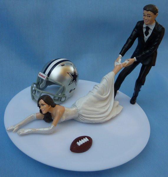 Dallas Cowboys Wedding Cakes  Wedding Cake Topper Dallas Cowboys G Football Themed w by