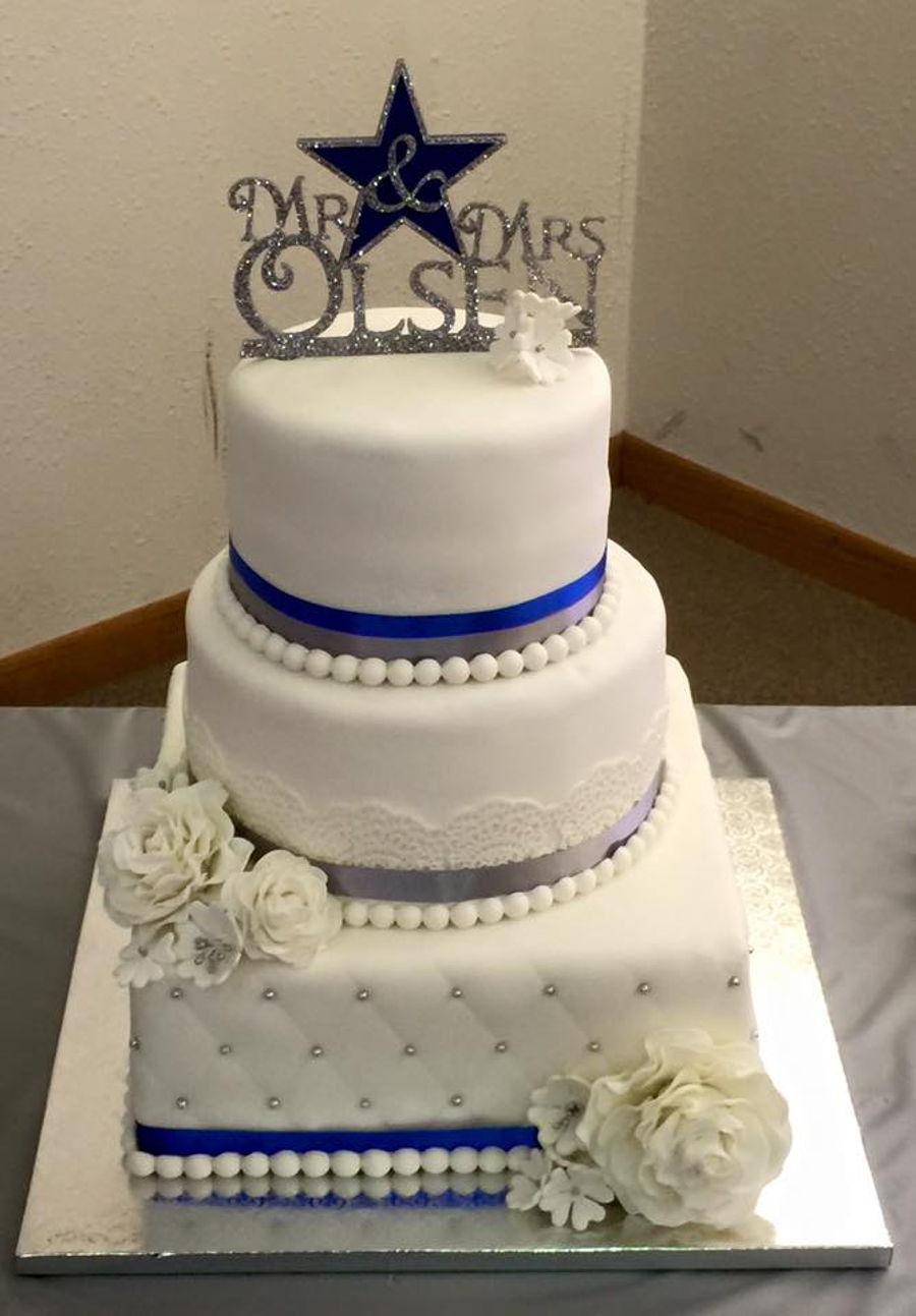 Dallas Wedding Cakes  Dallas Cowboy Wedding Cake CakeCentral