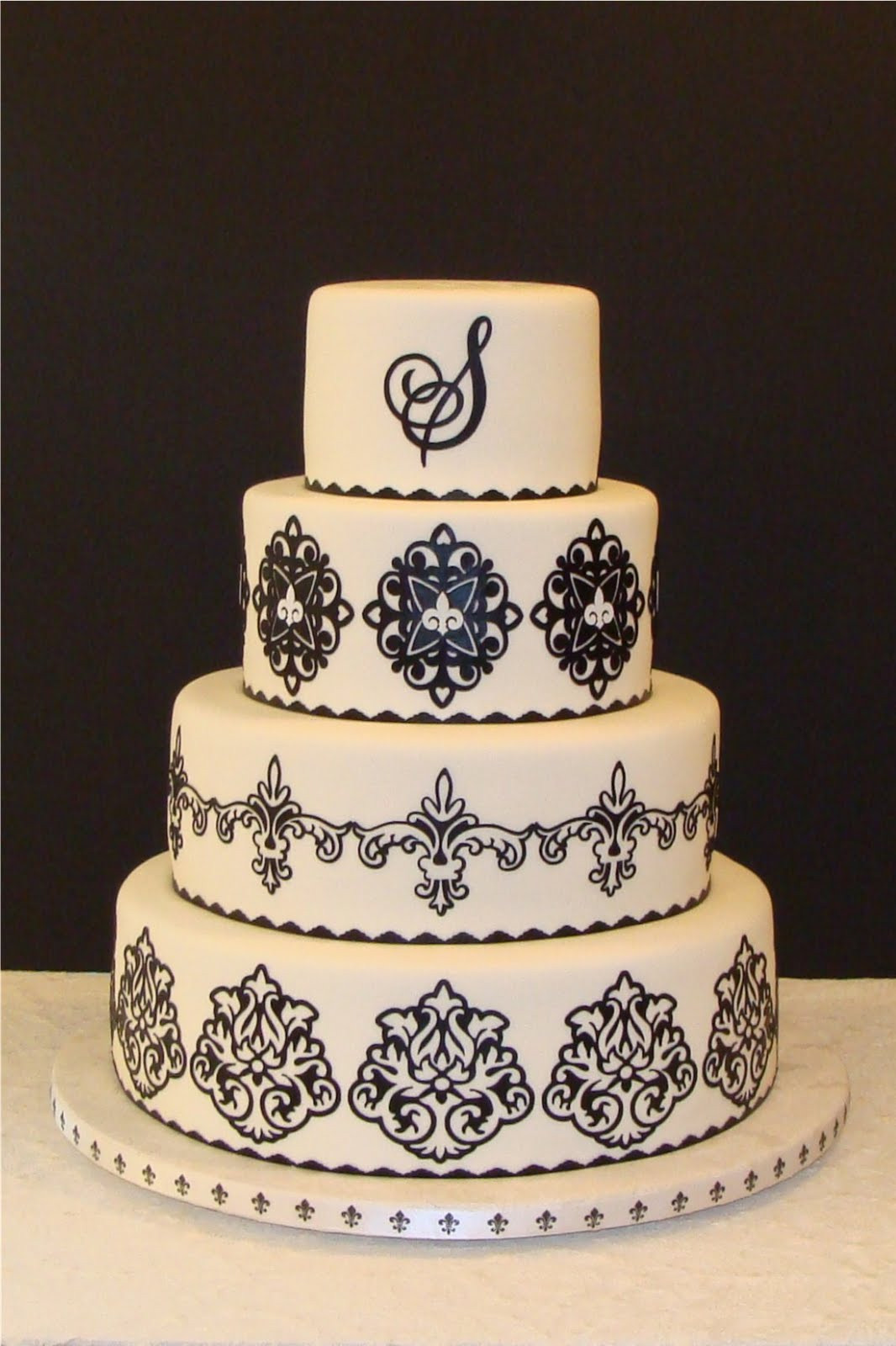 Damask Wedding Cakes  Sativa s blog Floral Damask Wedding Cake