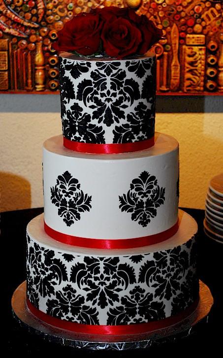 Damask Wedding Cakes  Cup a Dee Cakes Blog Damask Buttercream Wedding Cake