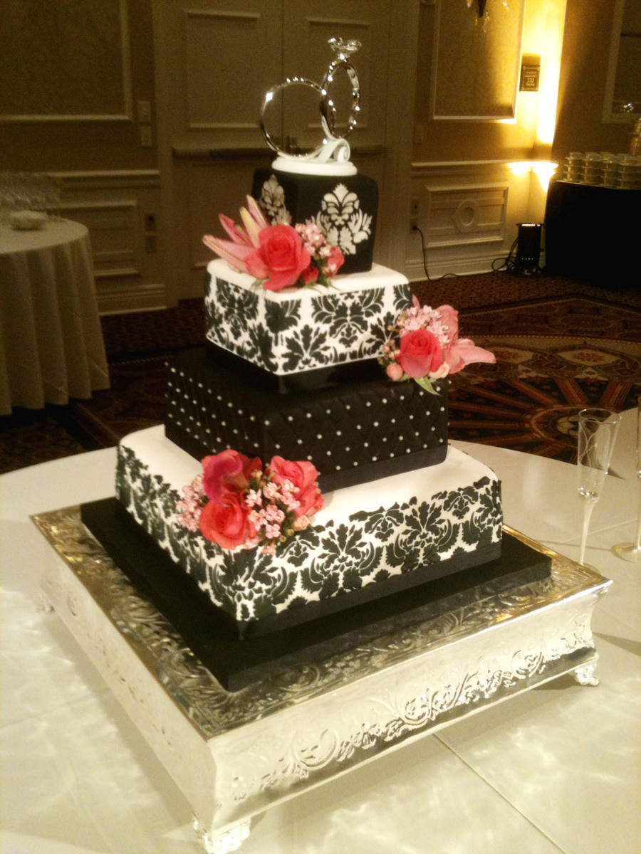 Damask Wedding Cakes  Damask Wedding Cake CakeCentral
