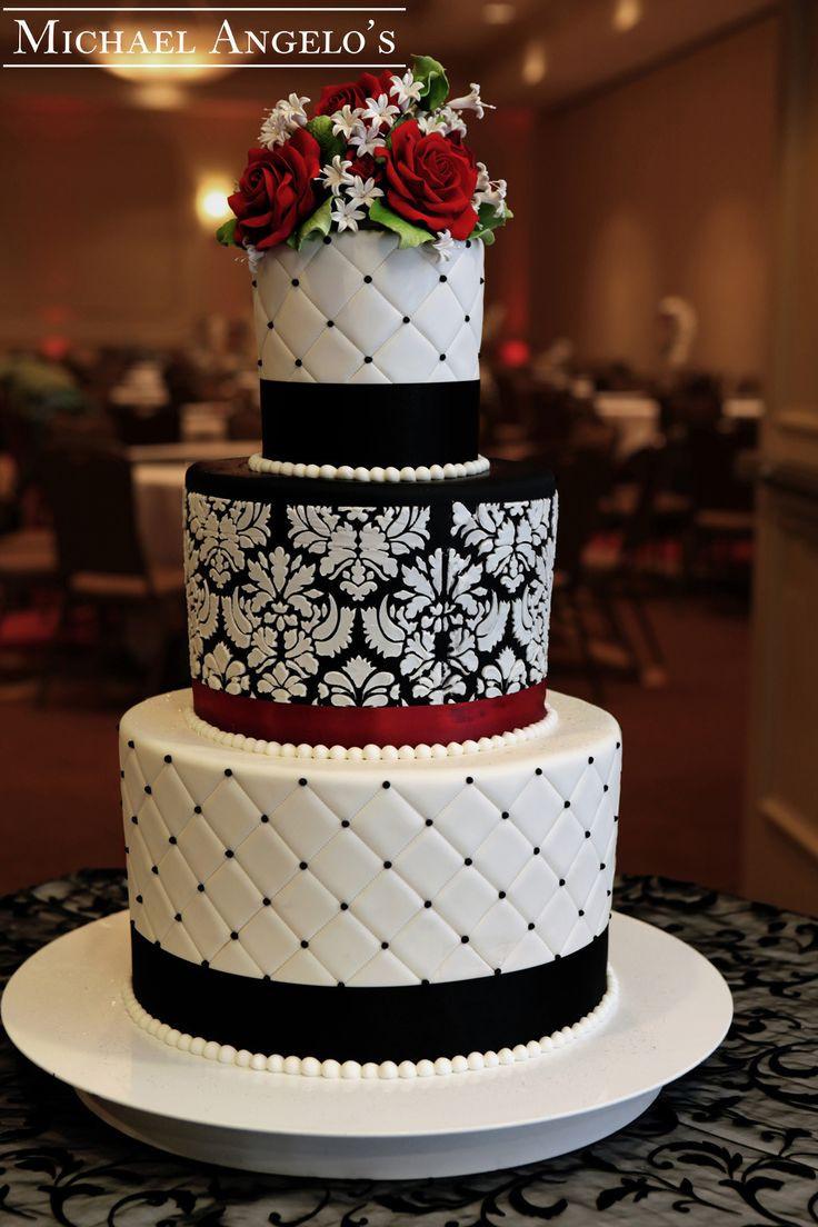 Damask Wedding Cakes  81 best images about Damask Wedding Decorations on Pinterest