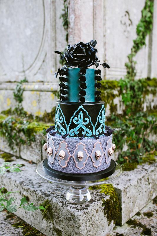 Dark Wedding Cakes  Sketch to Cake Natasha Shomali s Gothic Wedding Cake