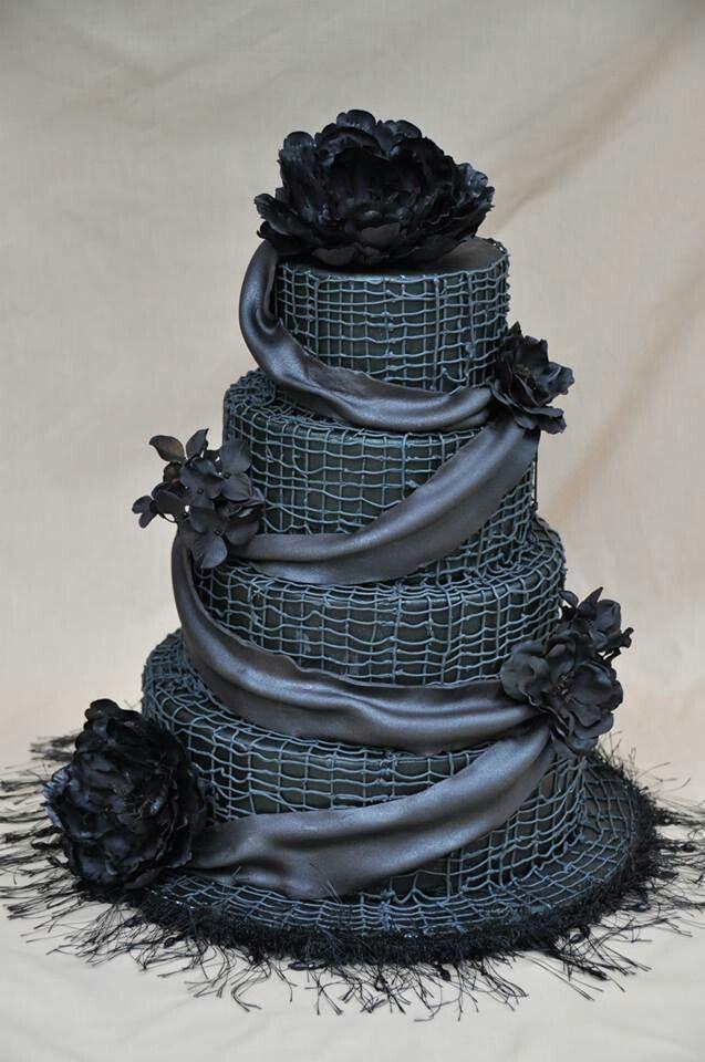 Dark Wedding Cakes  Southern Blue Celebrations Black & White Wedding Cake Ideas