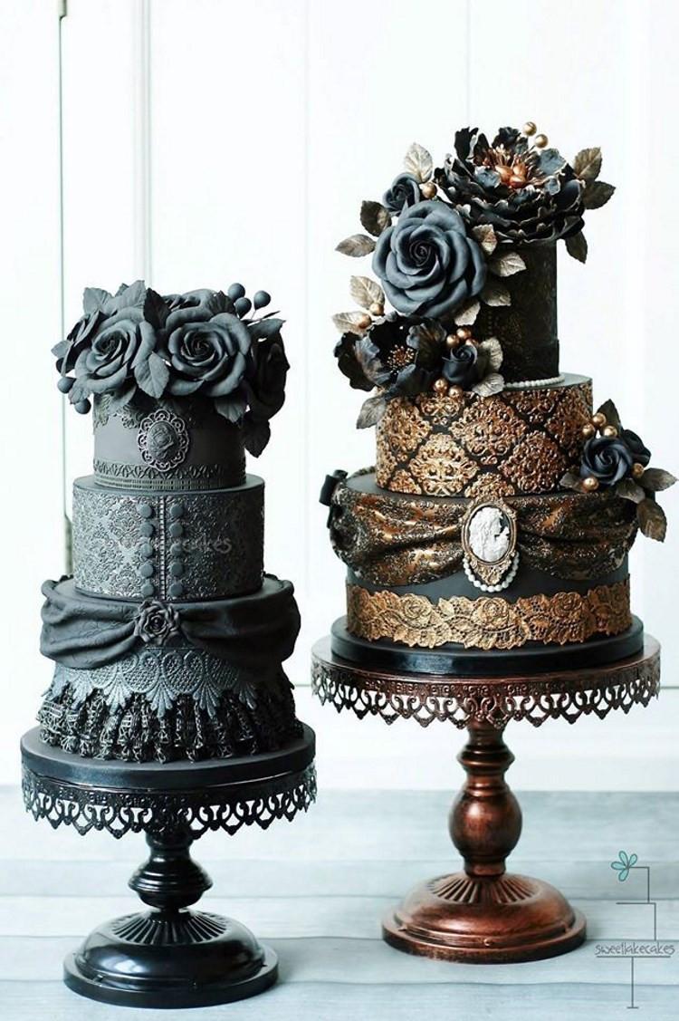 Dark Wedding Cakes  Top Wedding Trends for 2016 Chic Vintage Brides