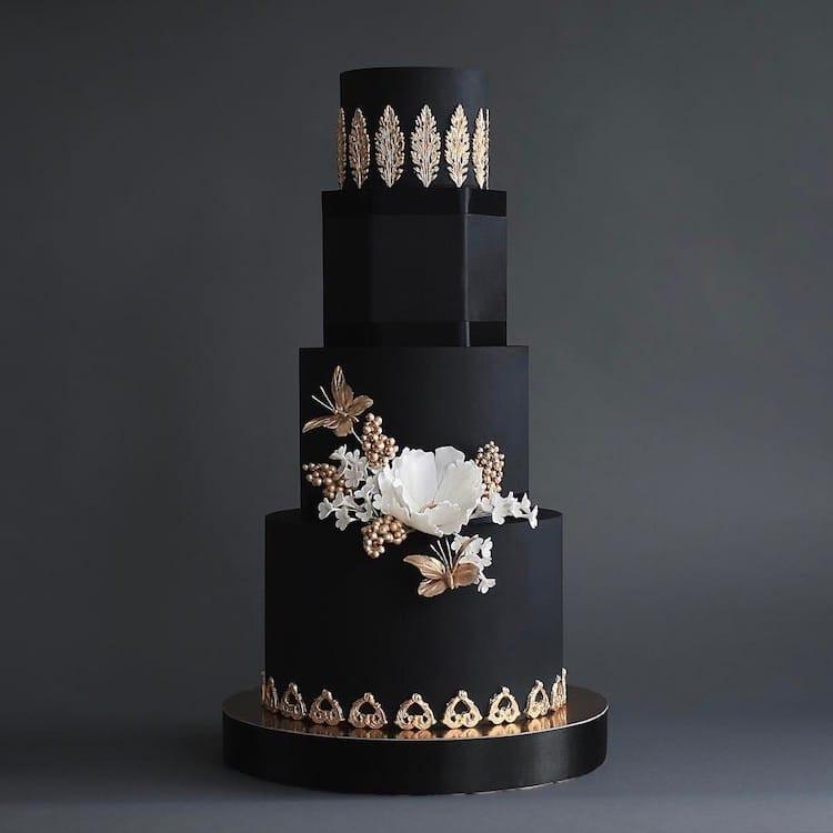 Dark Wedding Cakes  20 Dark Wedding Cakes That Add a Gothic Flair to the