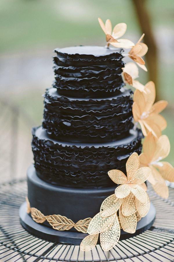Dark Wedding Cakes  20 Breathtaking Black Wedding Cakes Chic Vintage Brides