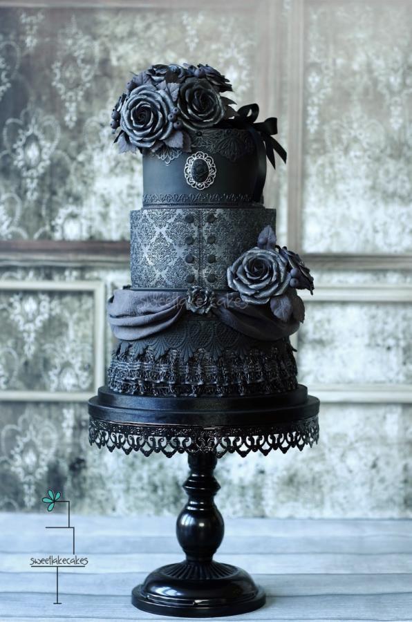 Dark Wedding Cakes  Gothic wedding cake 2 0 cake by Tamara CakesDecor