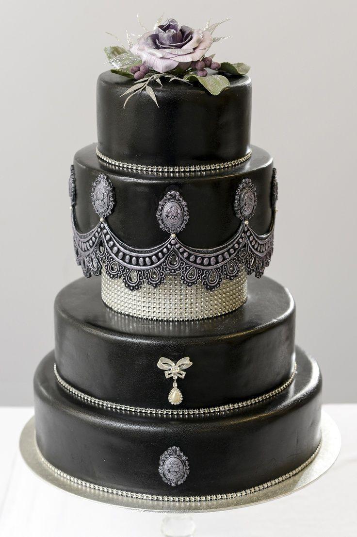 Dark Wedding Cakes  17 Best images about Unique Wedding Cakes on Pinterest