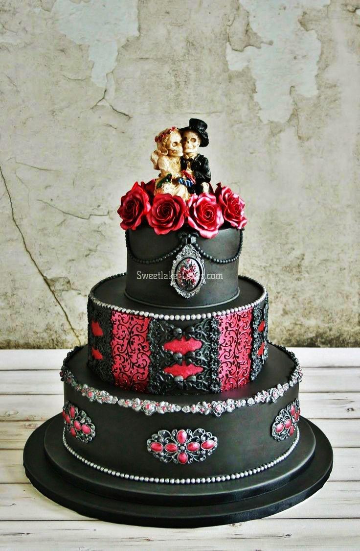 Dark Wedding Cakes  Torta de Boda Gótica Tortas