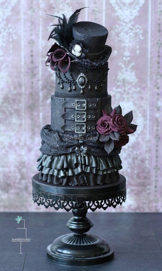 Dark Wedding Cakes  Beautiful Halloween Wedding Cakes Around My Family Table