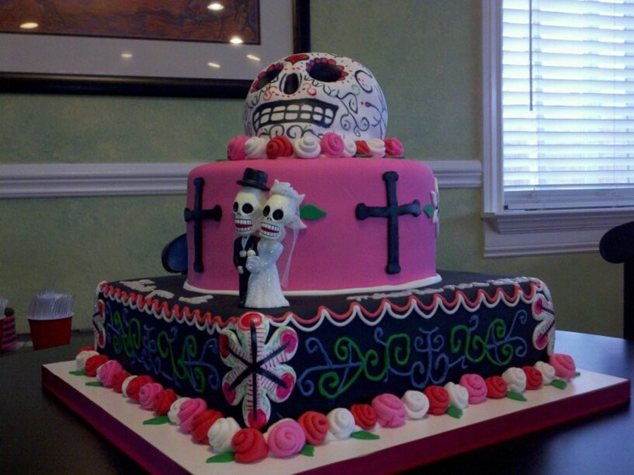 Day Of The Dead Wedding Cakes  Day The Dead Wedding Cake CakeCentral