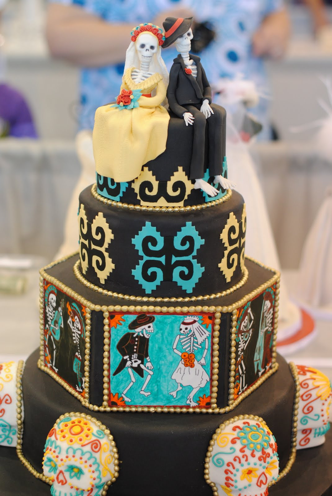 Day Of The Dead Wedding Cakes  Rockabilly Wedding Cakes Dia de los Muertos Theme