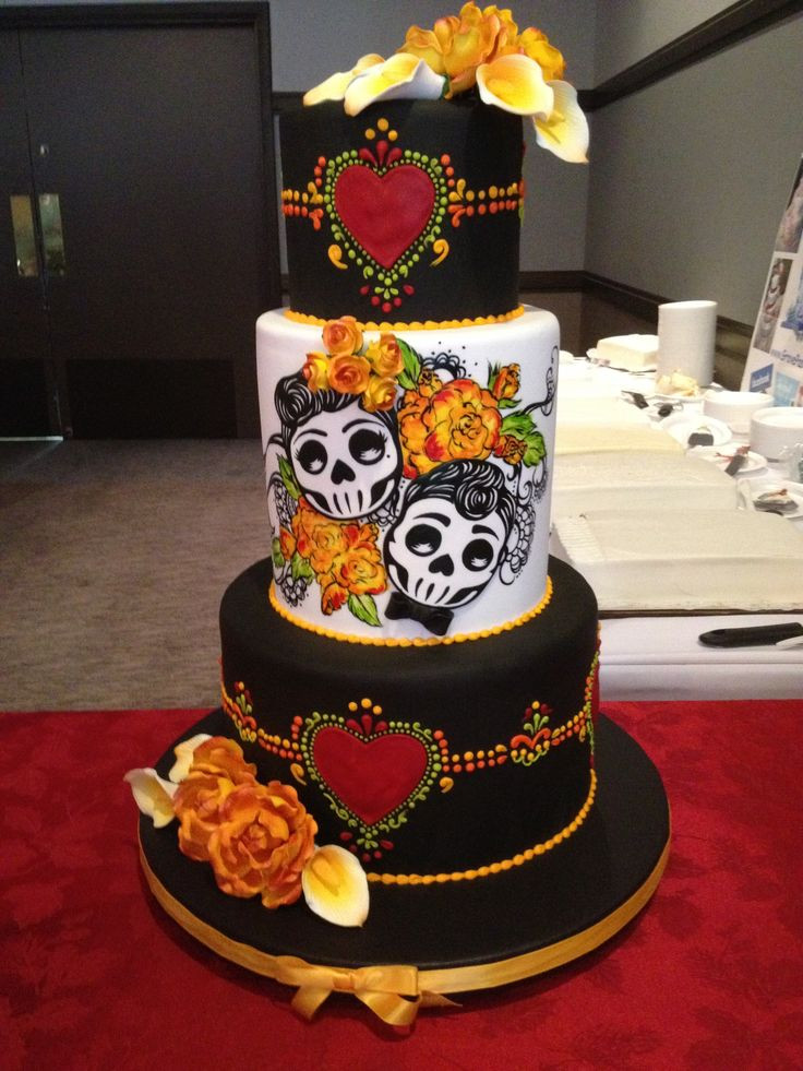 Day Of The Dead Wedding Cakes  Top 25 ideas about Dia De Los Muertos on Pinterest