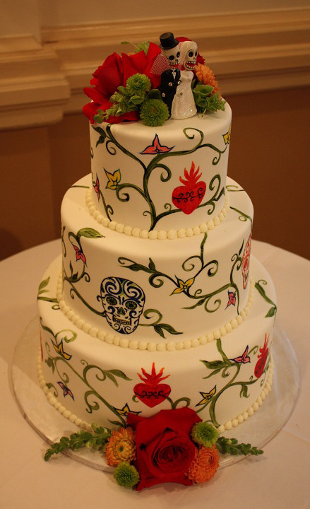 Day Of The Dead Wedding Cakes  The Day of the Dead Wedding Cakes