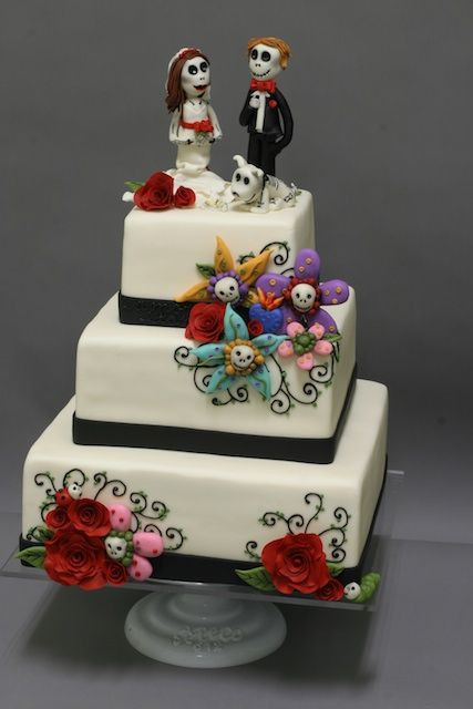 Day Of The Dead Wedding Cakes  17 Best images about Day of the Dead Desserts on Pinterest