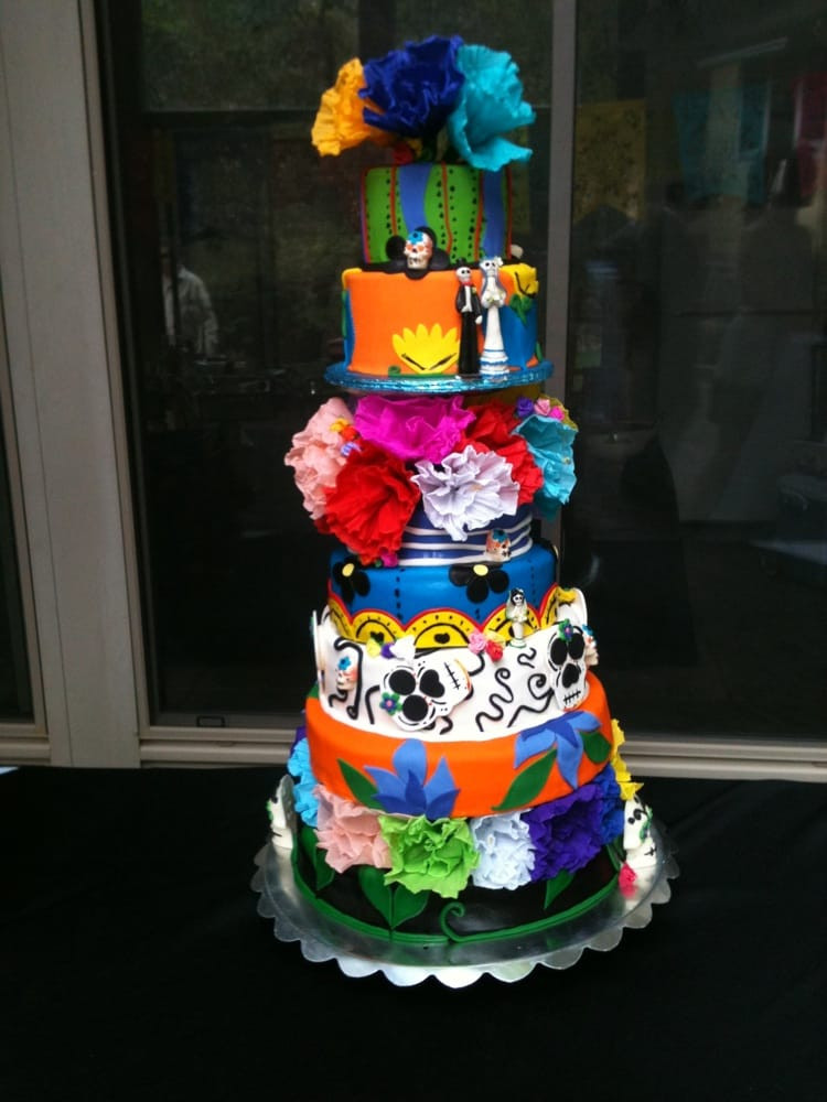 Day Of The Dead Wedding Cakes  Day of the dead wedding cake