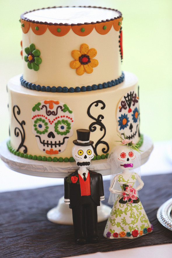Day Of The Dead Wedding Cakes  Day The Dead Wedding Rustic Wedding Chic