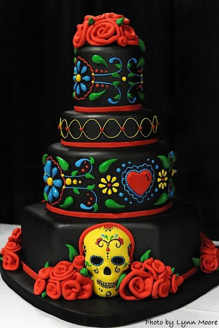 Day Of The Dead Wedding Cakes  Cake Wrecks Home Sunday Sweets Dia de los Muertos