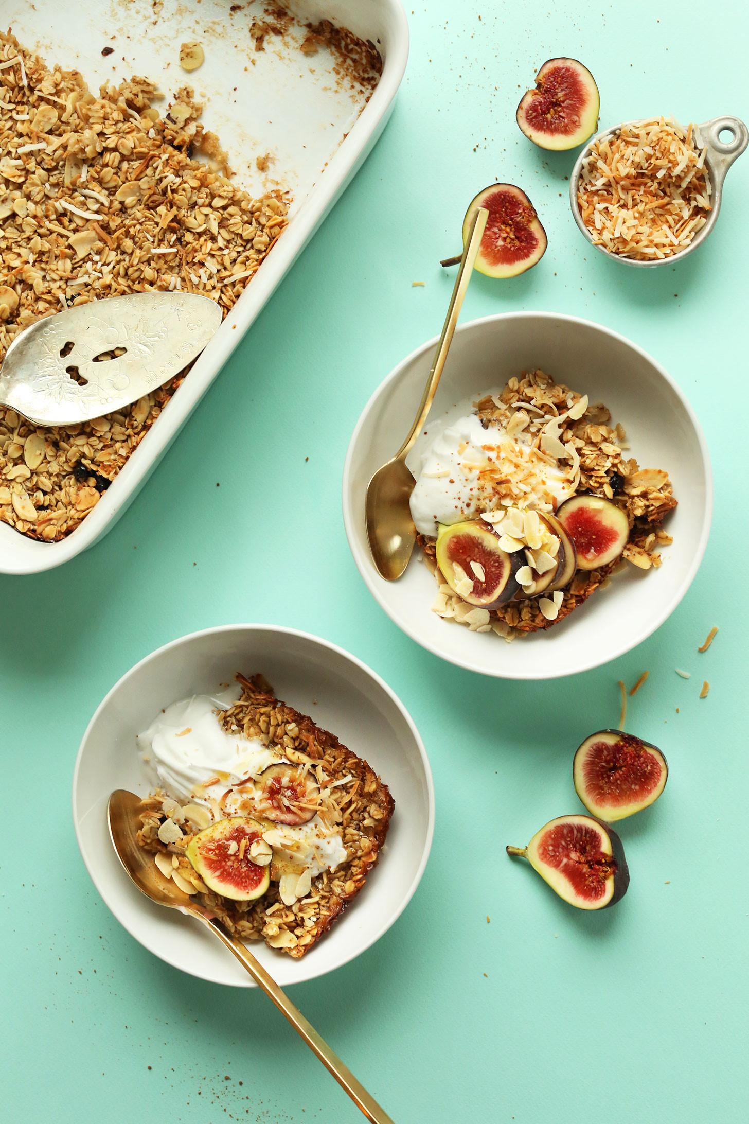 Delicious Healthy Breakfast Recipes  baked oatmeal recipe vegan