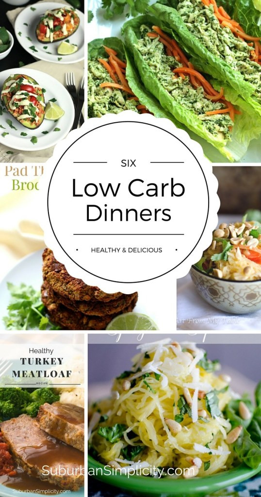 Delicious Healthy Dinners  Low Carb Dinners Healthy & Delicious Suburban Simplicity