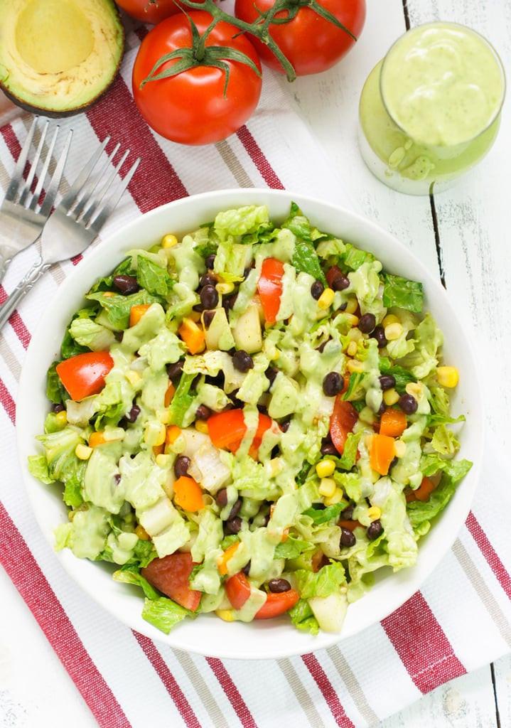 Delicious Healthy Salads  Black Bean Salad With Avocado Dressing Recipe