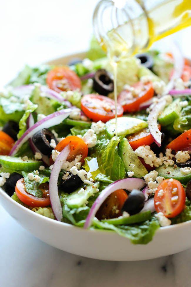 Delicious Healthy Salads  100 Greek Salad Recipes on Pinterest