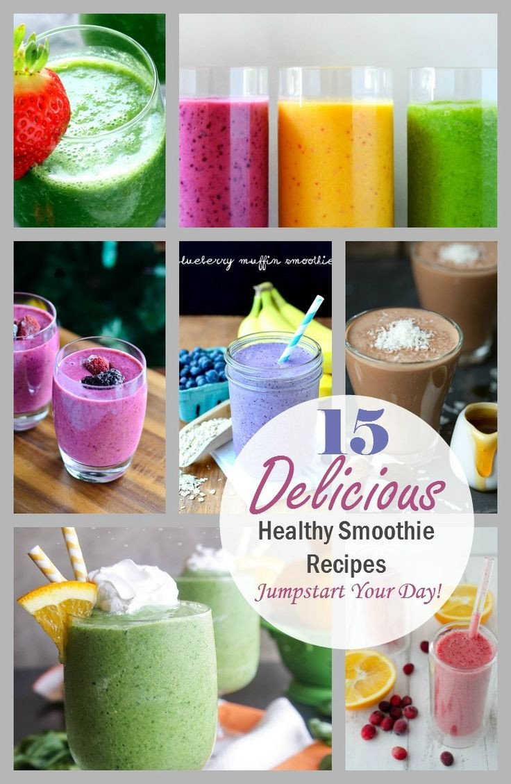 Delicious Healthy Smoothie Recipes  15 Delicious Healthy Smoothie Recipes to help you jump