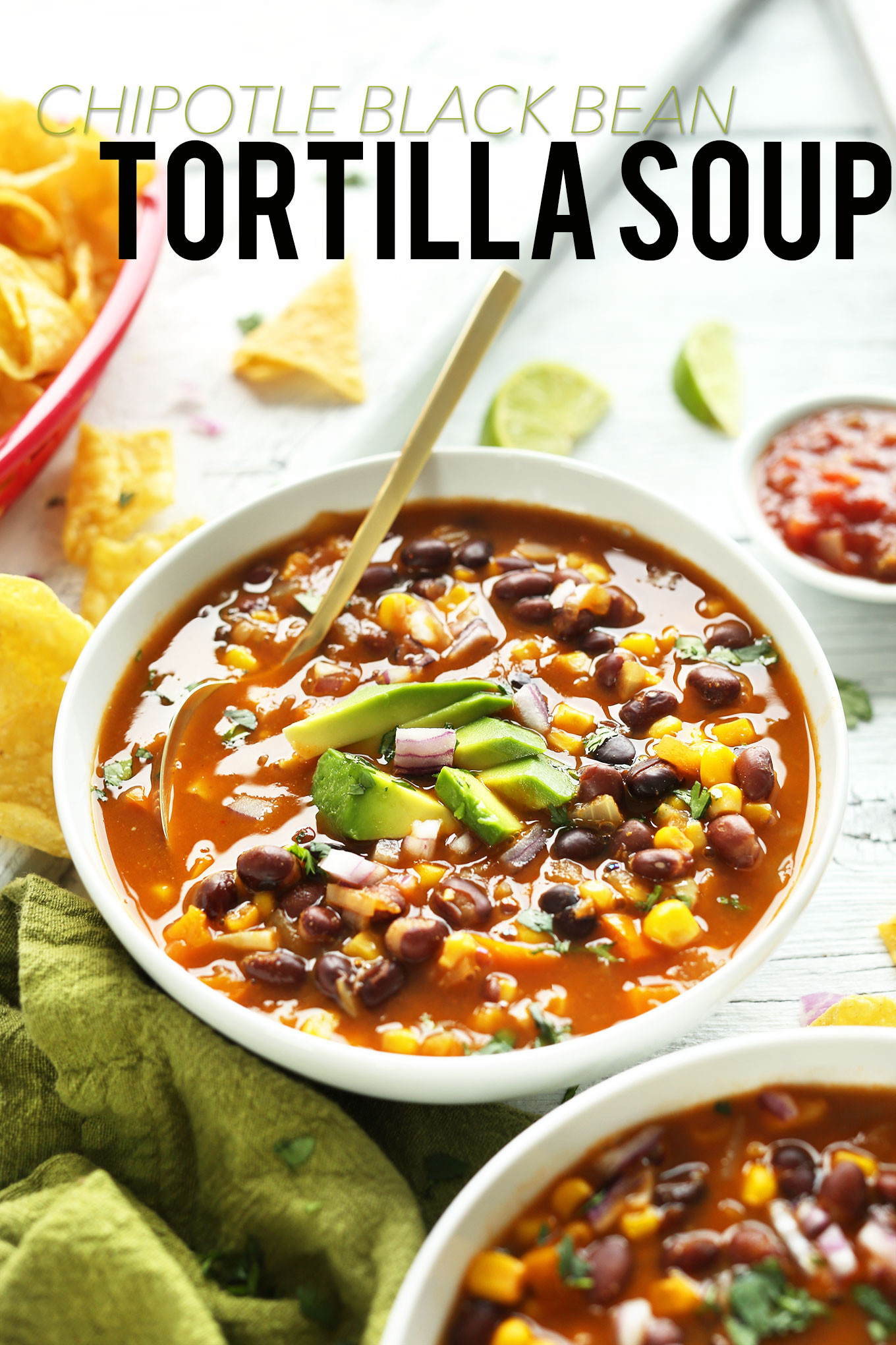Delicious Healthy Vegan Recipes  Black Bean Tortilla Soup